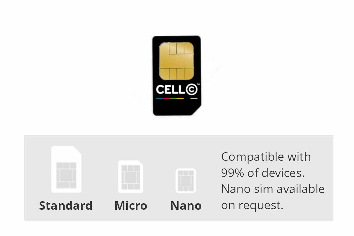 Rental sim card with data, texts and calls